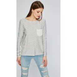 Roxy - Bluzka. Szare bluzki asymetryczne Roxy, l, z bawełny, casualowe, z okrągłym kołnierzem. W wyprzedaży za 129,90 zł.
