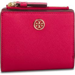 Mały Portfel Damski TORY BURCH - Robinson Mini Wallet 52703 Bright Azalea 663. Czerwone portfele damskie Tory Burch, ze skóry. Za 599,00 zł.