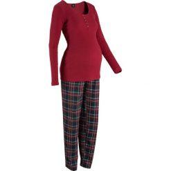 Bielizna ciążowa: Piżama dla ciężarnych i karmiących bonprix czerwony w kratę