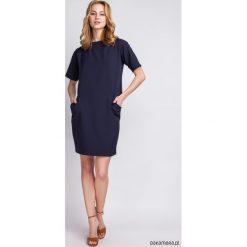Sukienki hiszpanki: LUŹNA, LEKKA SUKIENKA, SUK124 granat