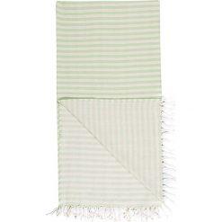 Kąpielówki męskie: Chusta hammam w kolorze zielono-białym – 180 x 100 cm