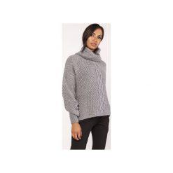 Sweter z warkoczem, SWE115 grafit. Szare swetry oversize damskie marki Lanti, l. Za 142,00 zł.