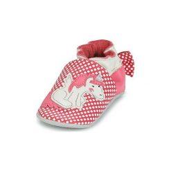Kapcie niemowlęce Dziecko  Robeez  PINK UNICORN. Czerwone kapcie dziewczęce Robeez. Za 119,20 zł.
