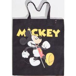 Torebki klasyczne damskie: Bawełniana torba mickey mouse - Czarny