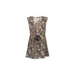 Sukienki krótkie Kaporal  TOMAS. Brązowe sukienki mini Kaporal, l, z krótkim rękawem. Za 231,20 zł.