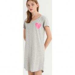 Koszula z nadrukiem - Jasny szar. Szare koszule wiązane damskie Sinsay, l, z nadrukiem. Za 29,99 zł.
