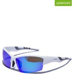 """Okulary przeciwsłoneczne męskie: Okulary męskie """"Habia 1"""" w kolorze biało-niebieskim"""