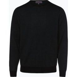Finshley & Harding - Sweter męski, czarny. Czarne swetry klasyczne męskie marki Finshley & Harding, w kratkę. Za 169,95 zł.