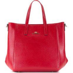 86-4E-445-3 Torebka damska. Czerwone shopper bag damskie Wittchen, w paski, ze skóry, duże. Za 459,00 zł.