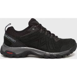 Salomon - Buty Evasion 2 Ltr. Czarne buty trekkingowe męskie Salomon, z materiału, na sznurówki, outdoorowe. W wyprzedaży za 379,90 zł.