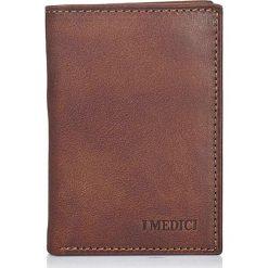 Skórzany portfel w kolorze brązowym - 11 x 7,5 x 1 cm. Brązowe portfele damskie I MEDICI FIRENZE, ze skóry. W wyprzedaży za 126,95 zł.