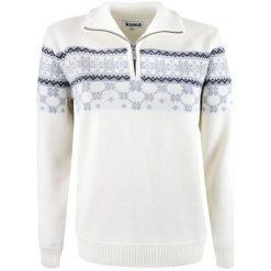 Kama Sweter Damski Merino 5007 L Naturalnie Biały. Czarne swetry klasyczne damskie marki bonprix, w paski, z dekoltem woda. Za 565,00 zł.