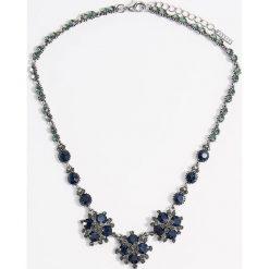 Naszyjnik z kryształkami - Granatowy. Brązowe naszyjniki damskie marki Sinsay. W wyprzedaży za 19,99 zł.