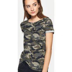 Koszulka moro - Khaki. Brązowe t-shirty damskie marki Cropp, m, moro. Za 29,99 zł.