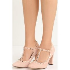 Różowe Czółenka Cherished. Brązowe buty ślubne damskie marki bonprix, na obcasie. Za 79,99 zł.