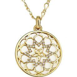 Biżuteria i zegarki: Pozłacany naszyjnik z zawieszką – dł. 65 cm