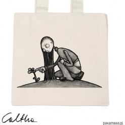 Kwiat - torba premium (różne kolory). Szare shopper bag damskie Pakamera, z materiału. Za 79,00 zł.