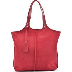 Torebki klasyczne damskie: Skórzana torebka w kolorze czerwonym – (S)41 x (W)46 x (G)15 cm