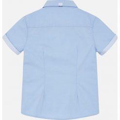 Mayoral - Koszula dziecięca 92-134 cm. Szare koszule chłopięce z krótkim rękawem marki Mayoral, z bawełny, z włoskim kołnierzykiem. Za 94,90 zł.