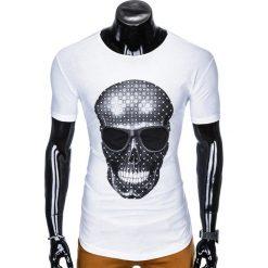 T-shirty męskie: T-SHIRT MĘSKI Z NADRUKIEM S999 - BIAŁY