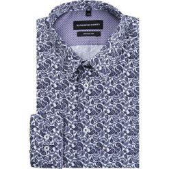 Koszula SIMONE KDWR000172. Białe koszule męskie na spinki Giacomo Conti, m, paisley, z bawełny, z klasycznym kołnierzykiem. Za 199,00 zł.
