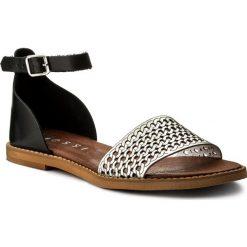 Sandały damskie: Sandały NESSI - 18381 Czarny/Srebro