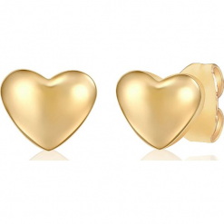 Kolczyki-wkrętki. Żółte kolczyki damskie Stylowa biżuteria, ze stali. W wyprzedaży za 25,95 zł.