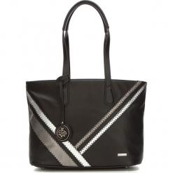 Torebka damska 87-4Y-770-1. Czarne shopper bag damskie Wittchen, w geometryczne wzory, zdobione. Za 129,00 zł.