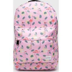 Spiral - Plecak. Różowe plecaki damskie Spiral, w paski, z materiału. Za 129,90 zł.