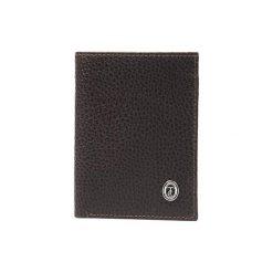 Portfele męskie: Skórzany portfel w kolorze brązowym – (D)12,5 x (S)9,5 cm