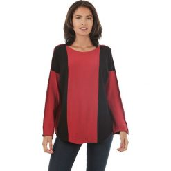 Sweter w kolorze czerwono-czarnym. Czarne swetry klasyczne damskie marki L'étoile du cachemire, z kaszmiru. W wyprzedaży za 129,95 zł.