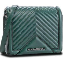 Torebka KARL LAGERFELD - 86KW3021 Dark Emerald 608. Zielone listonoszki damskie marki KARL LAGERFELD, ze skóry. W wyprzedaży za 849,00 zł.