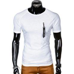 T-shirty męskie: T-SHIRT MĘSKI BEZ NADRUKU S1011 - BIAŁY
