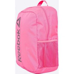 0e29470db588e W Reebok - Plecak. Różowe plecaki damskie Reebok, w paski, z poliesteru. W