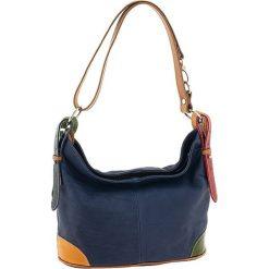 Torebki klasyczne damskie: Skórzana torebka w kolorze granatowym – 30 x 25 x 16 cm