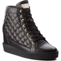Sneakersy GUESS - FLFRR3 LEA12 BLACK. Czarne sneakersy damskie Guess, z materiału. Za 719,00 zł.