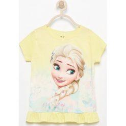 Bluzki, topy, tuniki: T-shirt z nadrukiem frozen – Żółty