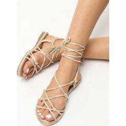 Rzymianki damskie: Beżowe Sandały Discrete