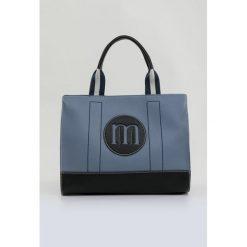 Torba ze stemplem. Szare torebki klasyczne damskie Monnari, z aplikacjami, z materiału, z aplikacjami. Za 99,60 zł.