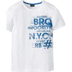T-shirty męskie z nadrukiem: T-shirt Slim Fit bonprix biały
