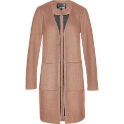 Płaszcze damskie: Płaszcz z domieszką wełny bonprix wielbłądzia wełna – czarny