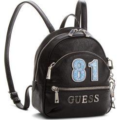 Plecak GUESS - Manhattan HWVY69 94310 BLA. Czarne plecaki damskie Guess, ze skóry ekologicznej, eleganckie. W wyprzedaży za 479,00 zł.