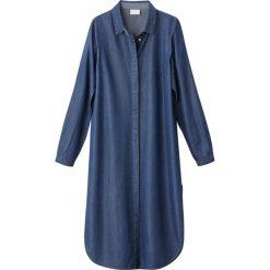 Tuniki damskie z długim rękawem: Długa tunika denimowa z tencelu
