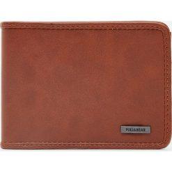 Portfele męskie: Brązowy portfel basic ze sztucznej skóry