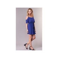 Sukienki krótkie Moony Mood  IFATEM. Niebieskie sukienki hiszpanki Moony Mood, l, z krótkim rękawem, mini. Za 127,20 zł.