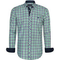 """Koszule męskie na spinki: Koszula """"Pau"""" w kolorze granatowo-zielono-białym"""