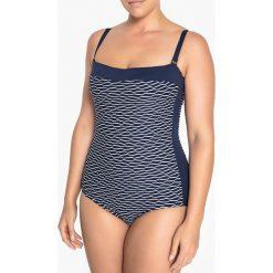 Stroje jednoczęściowe: Jednoczęściowy kostium kąpielowy typu gorsetowego, efekt płaskiego brzucha