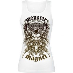 Topy damskie: Monster Magnet Throne Gradient Top damski biały