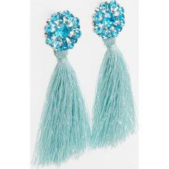 Kolczyki damskie: Wiszące kolczyki z chwostami - Niebieski