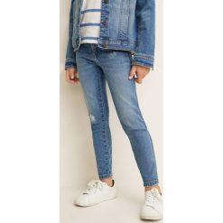 Mango Kids - Jeansy dziecięce Allegra 104-164 cm. Szare jeansy dziewczęce Mango Kids, z aplikacjami, z bawełny. Za 69,90 zł.